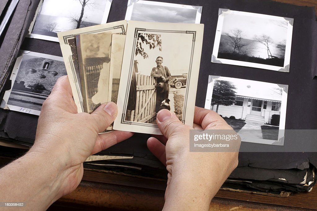 Hands Holing Vintage Memories