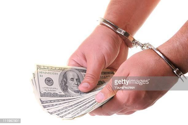 Hände in Handschellen, Verbrechen und Bestrafung