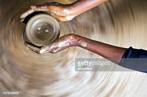Hands in the earth : Stock Photo