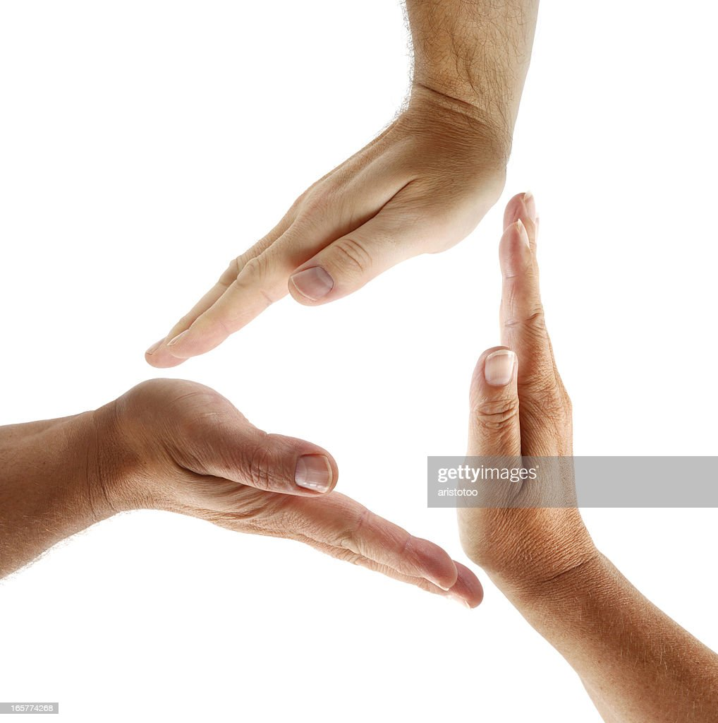 Hands in Triangle Shape