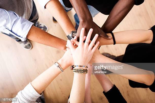 Hände in der Einheit