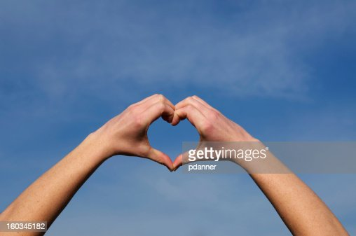 hands make a heart shape : Stock Photo