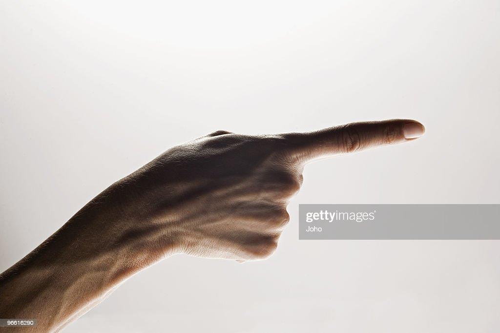 Hands making emphatic gesture