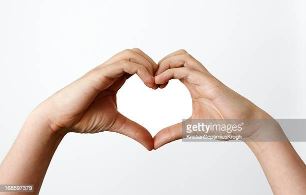 Mains faire heartshape