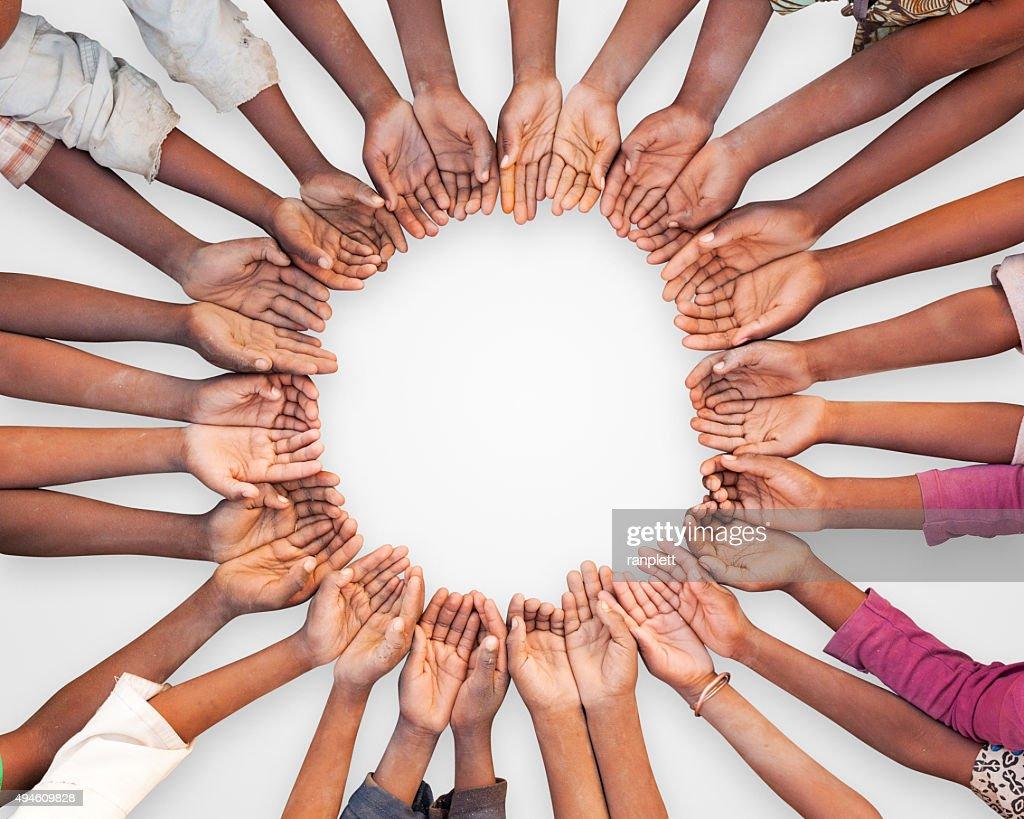 Hands of African Children