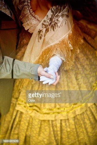 Hands of dancing couple