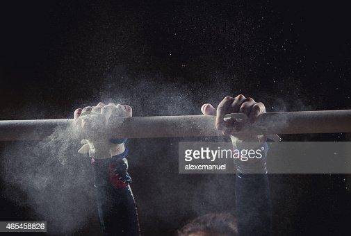 hands of gymnast : Stock Photo