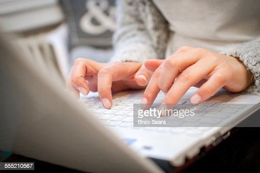 Hands on a keyboard : Stock Photo
