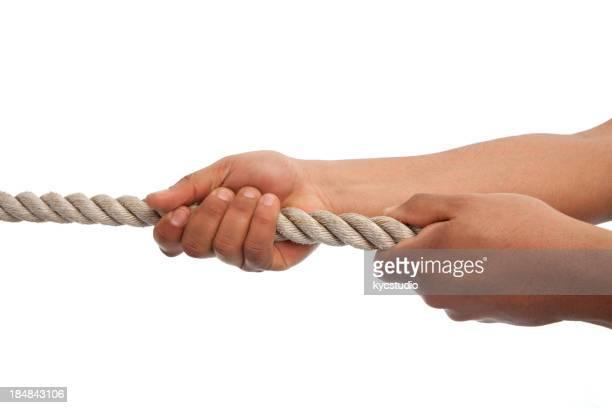 Hand ziehen ein Seil