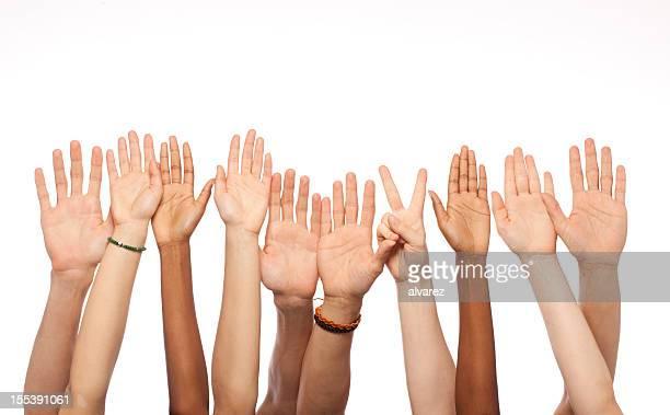 Hände heben
