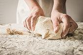 Dough,hands,dough