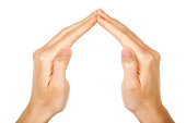 Hands Showing Triangle Symbol