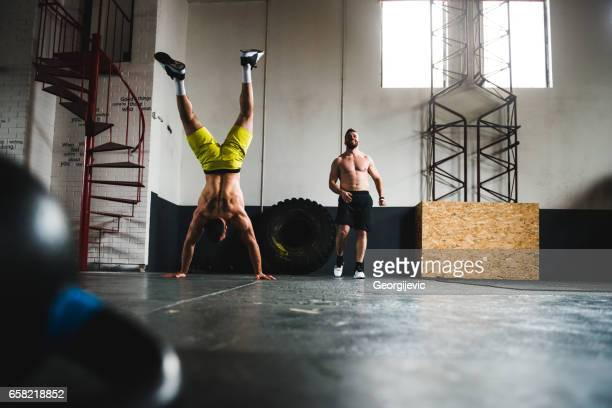 Hands stand push up