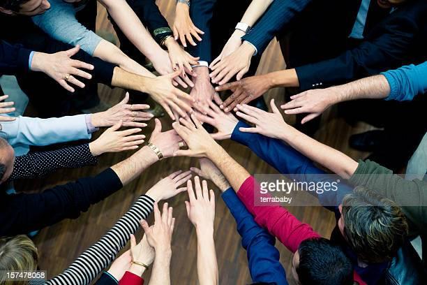 Hands Together Team Spirit