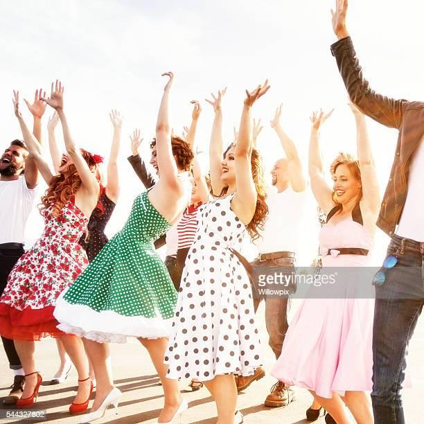Hands Up Dancers - Fifties High School Graduation Dance