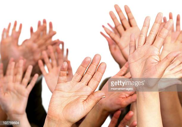 Hands waving