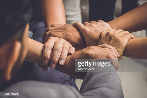 Hands were a collaboration concept of teamwork : Stock Photo