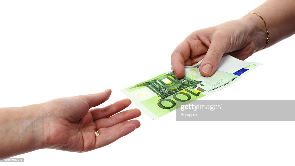 Hands with Euro