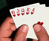 hands with playing cards