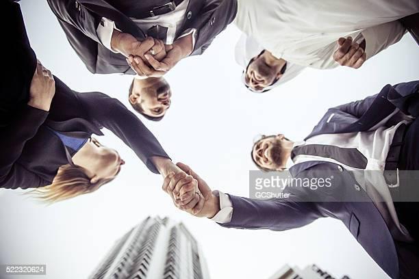 Handshake between business executives