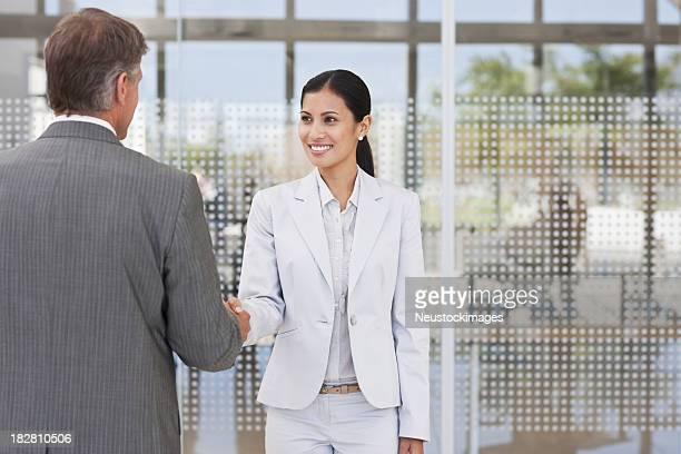 Handshake Between Two Business Colleagues