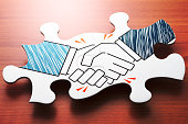 Concept image of agreement and partnership.