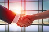 handshake of businessmen. the concept of successful negotiations.