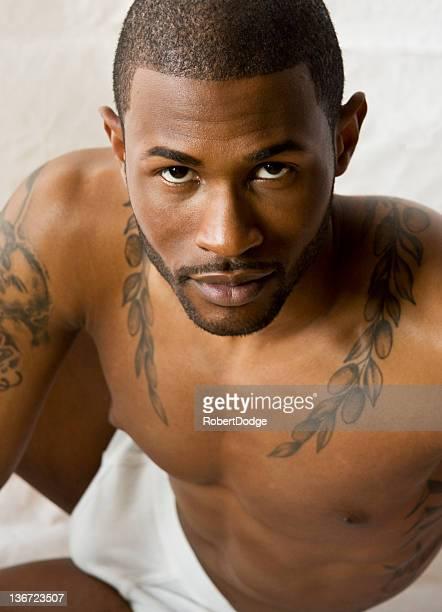 Handsome Black Man in Underwear