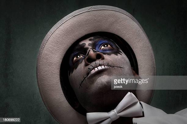 Handsome Black Man with Sugar Skull Makeup