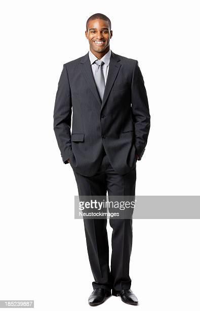 Bel homme d'affaires en costume-isolé