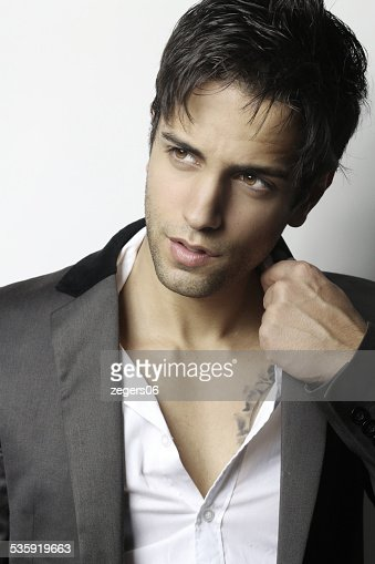 handsome businessman with a beautiful hairstyle : Stock Photo