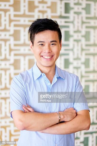 Schöne chinesische Mann