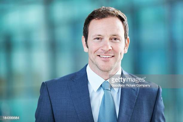 Handsome executive smiling