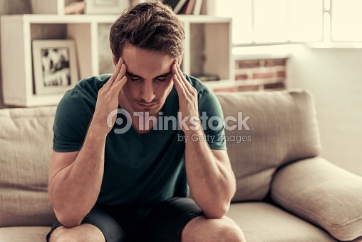 Handsome guy at home : Stock Photo