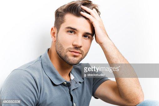 Handsome heartbreaker. : Stock Photo