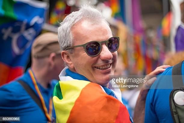 Handsome man during Gay Pride Parade