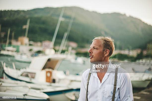 Handsome man in Italy