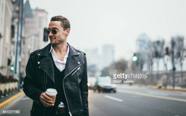 Handsome man on the street