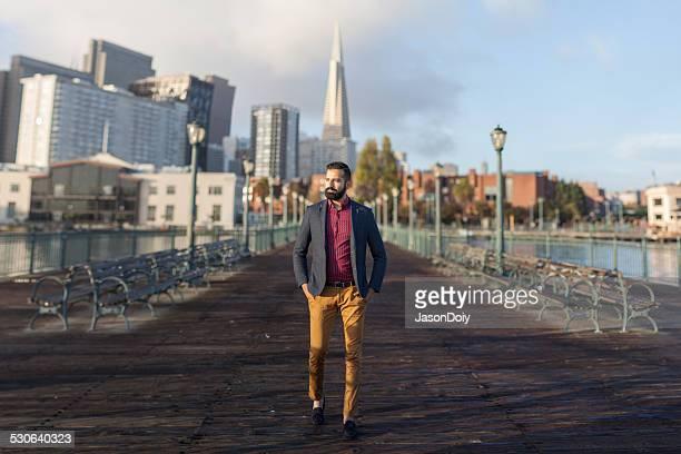 Handsome Man Walking in San Francisco
