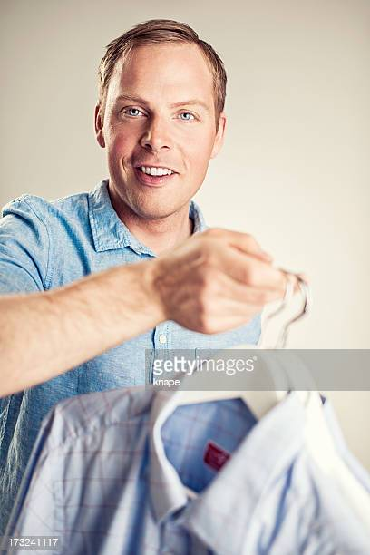 Handsome man with shirts