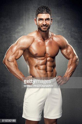 Muscular Guy In White Panties Stock Image - Image of