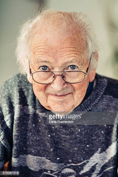 Handsome olderly man wearing glasses