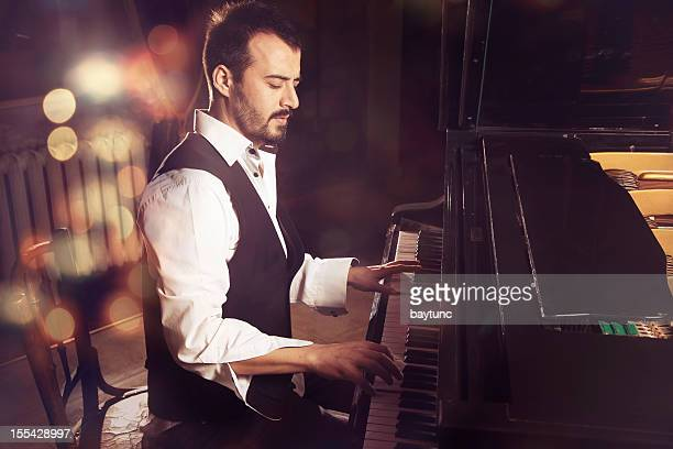handsome piano player