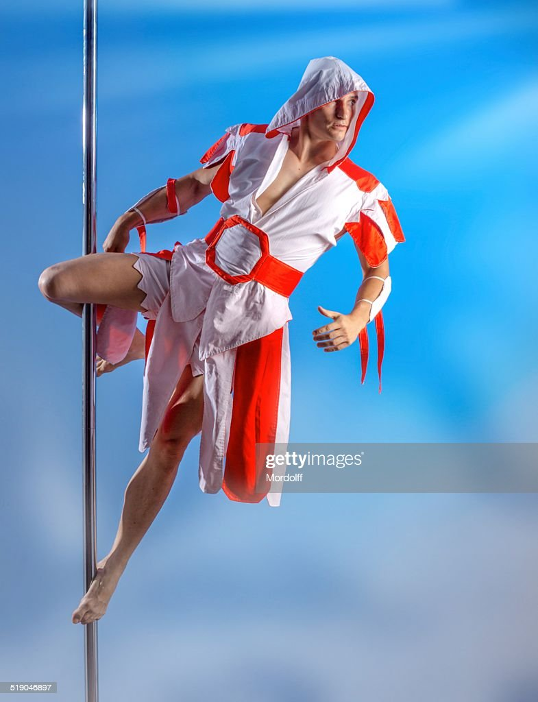 Handsome pole dancer