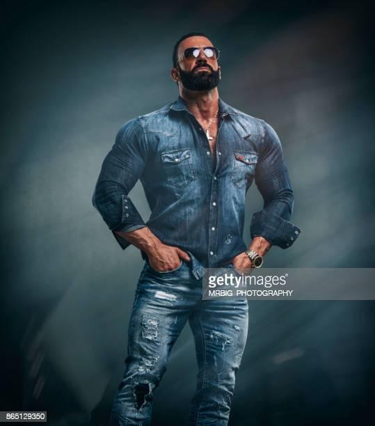 Handsome Tough Looking Muscular Men