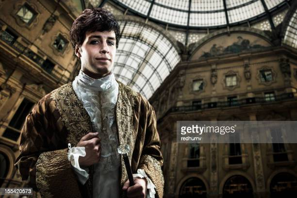 Handsome Victorian Lord on inside european palace