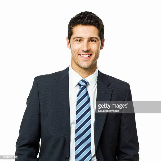 Attraktive junge Geschäftsmann Porträt-isoliert