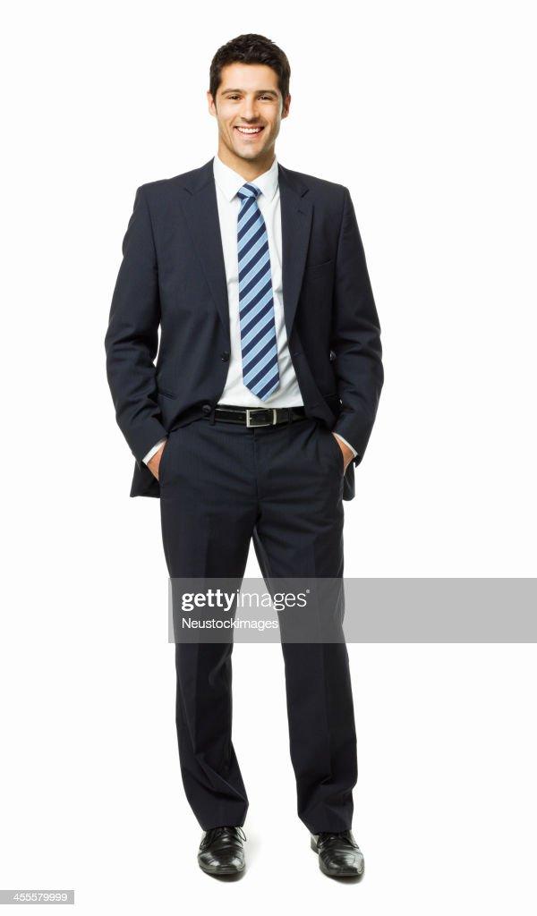 Attraktive junge Geschäftsmann Porträt-isoliert : Stock-Foto
