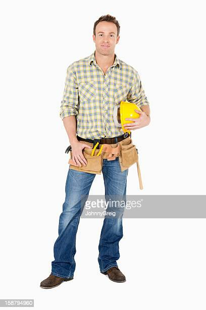 Handsome Young Carpenter - Isolated