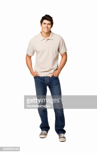 Handsome Young Man With Hands in His Pockets - Isolated